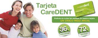 Caredent dentista Albacete tarjeta individual y familiar